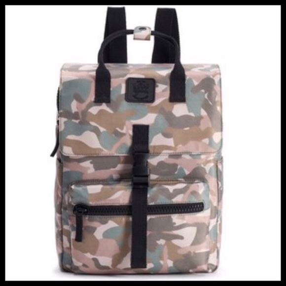 T-Shirt & Jeans Handbags - T-SHIRT & JEANS LARGE SQUARE CAMOUFLAGE BACKPACK
